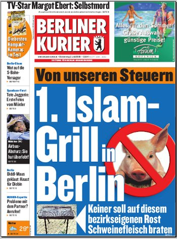 "Berliner Kurier: ""1. Islam-Grill in Berlin"""